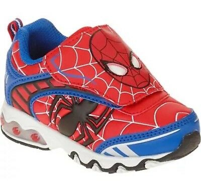 MARVEL ULTIMATE SPIDER-MAN Light-Up Shoes Sneakers NWT Toddler's Sz Boys 12