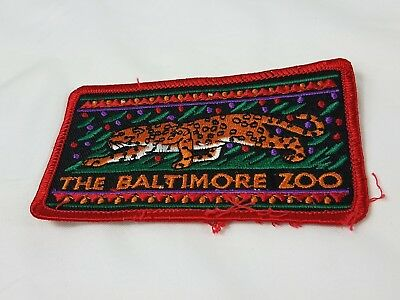 The Baltimore Zoo Vintage PATCH Cheetah Patch