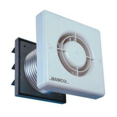 "Manrose XP100TB 100mm 4"" Axial Extractor Fan Pack wth Timer Ducting & Wall Grill"