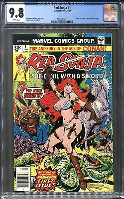 RED SONJA 1 (1977) CGC 9.8 **WHITE PAGES** 1st Red Sonja in her own Title