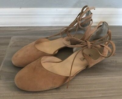 f2be4629bdb Paul Green Lydia Deer Suede Lace Tie Flats Women s Size 8.5 US ...