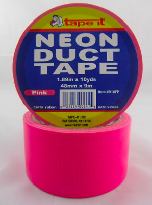 NEW COLOURS - Neon Coloured Duct Tape 48mm x 9000mm BRIGHT COLOURS AVAILABLE TOO