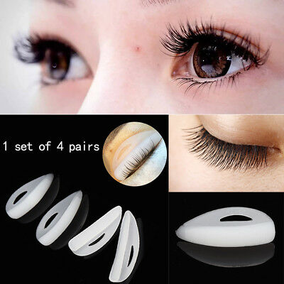 Silicone Eyelash Perm Patch Shield Pad Lashes Perming Lifting 4Size Curler Tools