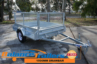7x5 Hot Dip Galvanised Full Welded Tipper Box Trailer With 600mm Removable Cage