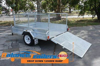 7×5 Hot Dip Galvanised Fully Welded Tipper Box Trailer With 1,290mm RAMP