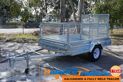 8×5 Hot Dip Galvanised Welded Tipper Box Trailer With 600mm Cage - 1,290mm RAMP