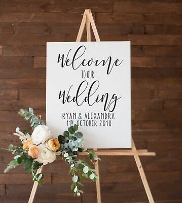 Welcome Wedding Sign Decal Sticker