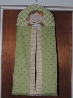 Lambs &  Ivy Papagayo Diaper Stacker Monkey Green