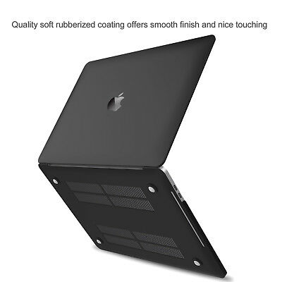 Apple MacBook Pro 13 15 inch Touch Bar 2018 Slim Rubberized Hard Case Cover Skin