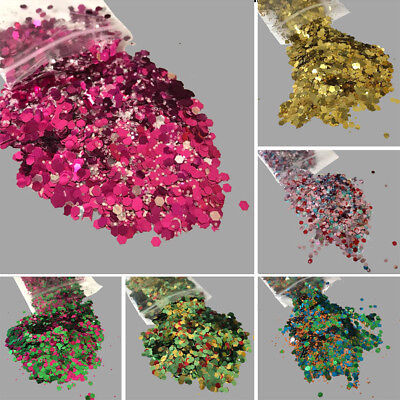 15Color Flake Chunky Glitter Pot for Face Body Nail Eye Shadow Festivals Tattoo.