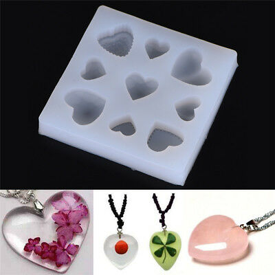 Heart Shape DIY Silicone Mold For Resin Jewelry Making Crafts Mould Tool JDUK