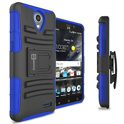 For ZTE Maven 3 / Prestige 2 / Overture 3 Belt Clip Case Blue Holster Cover