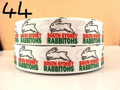 Grosgrain Ribbon South Sydney Rabbitohs Rugby 25mm (1m, 2m or 5m)
