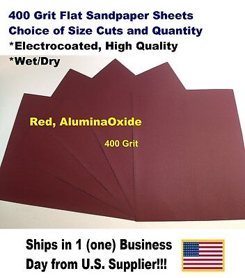 """400 Grit - Wet/dry Sandpaper Sheets 9""""x11"""" -Choice Of Quantity"""