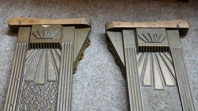 PAIR Antique Cast Iron Art Deco Theater Seat End Heywood Wakefield Architectural