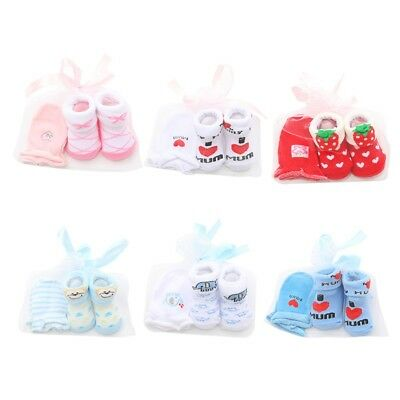 Baby Boys Girls Cartoon Floor Socks + Anti Grab Gloves Clothing Accessories Set