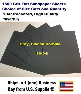 """1500 Grit Wet/dry Sandpaper Sheets 9""""x11"""" -Choice Of Quantity"""