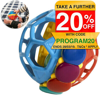 Baby Einstein Baby Bendy Sound Ball Rattle/Activity Toy/Kids/Toddler/Infant 3m+