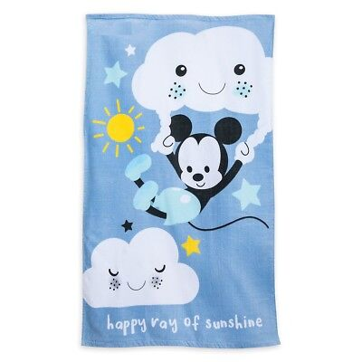 Disney Store Authentic Mickey Mouse Baby Beach Towel New Swimwear Accessory