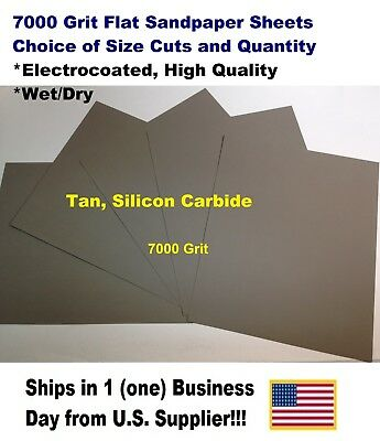"""7000 Grit Wet/dry Sandpaper Sheets 9""""x11"""" -Choice Of Quantity"""
