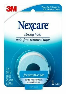 New Nexcare Sensitive Skin Tape 1 in x 144 in Hypoallergenic Pain Free Tape