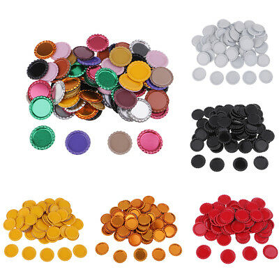100x Flat Bottle Cap Embellishment Jewelry Making Accessories Findings 25mm