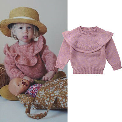Cute Toddler Girls Kids Baby Sweater Knit Pullovers Warm Coat Outerwear Clothes