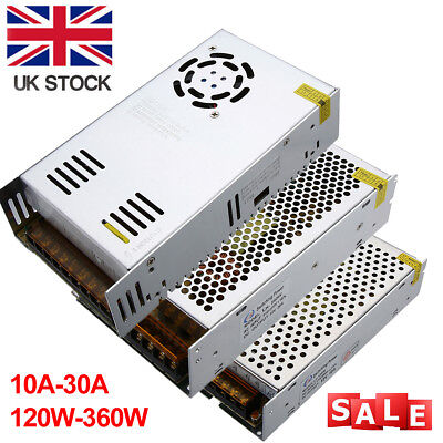DC 12V 10A 20A 30A Power Supply Adapter Transformer Driver For LED Strip UK