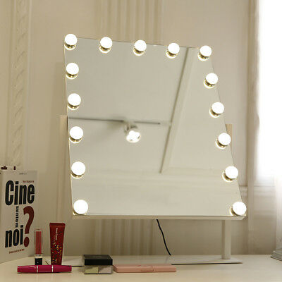 Hollywood Mirror With 10 Led Light Up For Makeup Vanity Dressing Table Large
