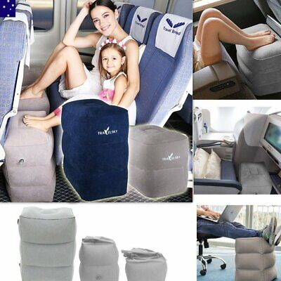 Plane Train Travel Inflatable Foot Rest Portable Leg Footrest Pillow Kids Bed AU