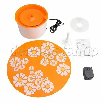 Automatic Electric Dog Water Drinking Fountain Bowl Filter Capacity 1.6L