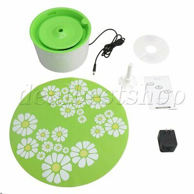 Automatic Electric Dog Cat Water Drinking Fountain Bowl Filter