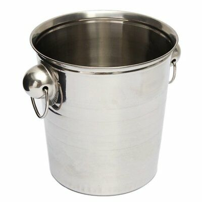 3X(Silver Stainless Steel Ice Punch Bucket Wine Beer Champagne Cooler Party G6G7