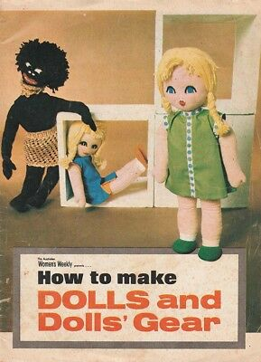 1970s AUSTRALIAN WOMENS WEEKLY LIFT-OUT BOOKLET How to make DOLLS and DOLLS GEAR