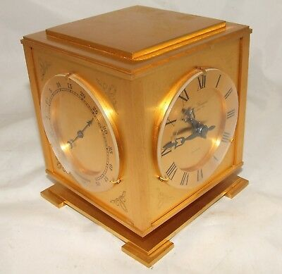 French LAVIGNE HOUR Desk Weather Station Clock Barometer Thermometer Hygrometer