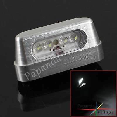 E-marked Aluminum Rear Motorcycle White LED Number License Plate Light Universal