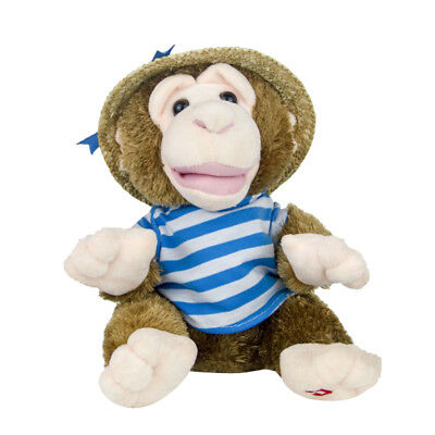 Musical Electric Monkey Doll Interactive with Waggling Arms Plush Toys Blue