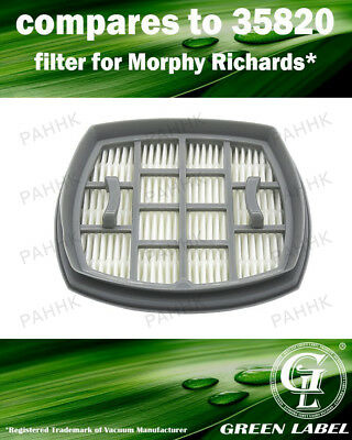 HEPA Filter for Morphy Richards Supervac (compares to 35820). By Green Label