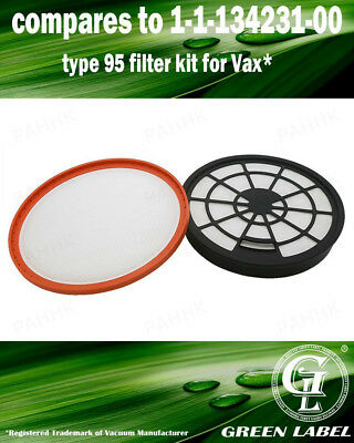 For Vax Filter Kit (Type 95). Genuine Green Label Product