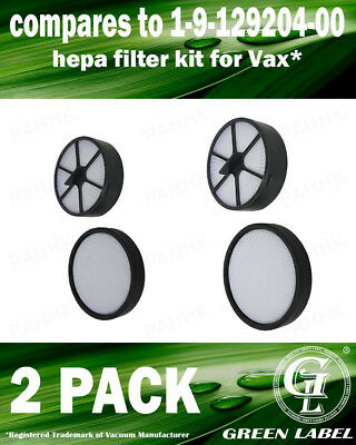 2Pack Filter Kit For Vax C91-MZ Mach Zen Serie (OEM# 1912920400). By Green Label