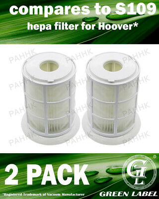 2 Pack Filter for Hoover Smart/Whirlwind (OEM# S109, 35601063). By Green Label