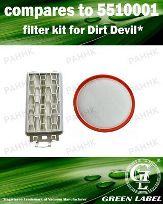 Dirt Devil Filter Kit (OEM# 5510001). Motor Protection Filters. By Green Label
