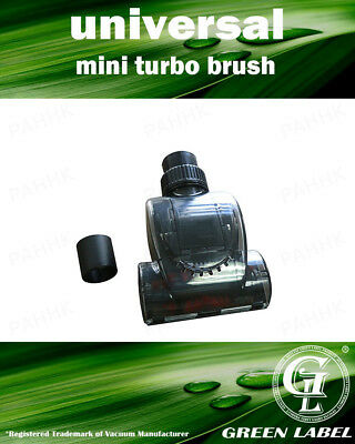 Universal Mini Turbo Brush 32-35 mm For Most Vacuum Cleaners. By Green Label