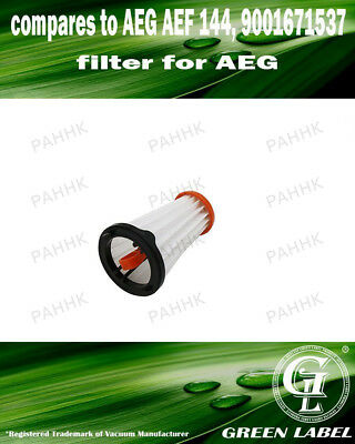 Filter for AEG/Electrolux Rapido/Ergorapido (OEM# AEF 144/EF144). By Green Label
