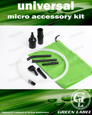 Universal Mini Micro Vacuum Cleaner Attachment Kit (32-35 mm). By Green Label