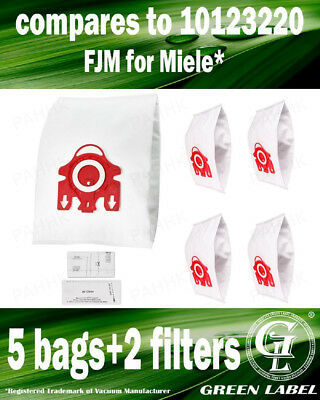 Bags for Miele Type FJM 3D (5 bags+2 filters). By Green Label