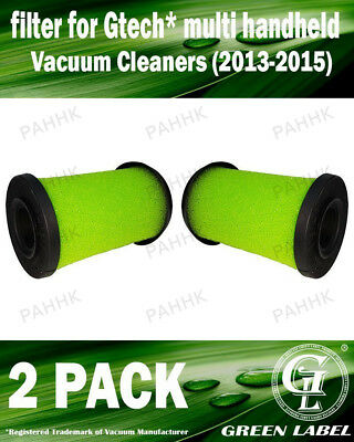 2 Pack Filter for Gtech Multi Vacuum (2013-2015) (OEM# ATF001). By Green Label