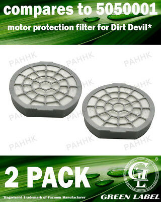 2 Pack Filter for Dirt Devil Infinity Excell/Proxima OEM# 5050001 By Green Label