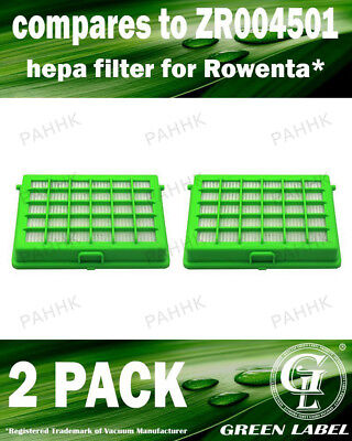 2 Pack Filter for Rowenta and Moulinex (OEM# ZR004501). By Green Label