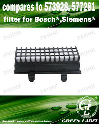 Filter for Bosch/Siemens Relaxx'x Pro (OEM# 00573928/00577281). By Green Label